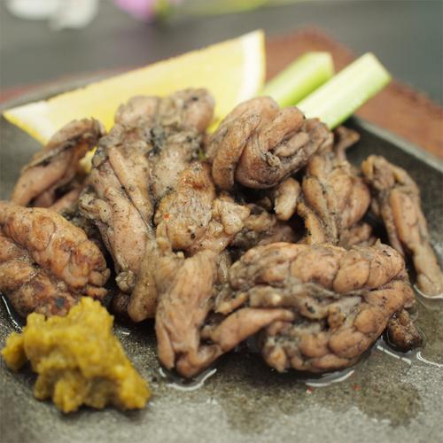 宮崎鶏せせり炭火焼き